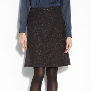 THEORY Rainbow Speckle Wool Skirt